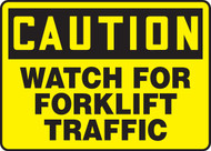 Caution Watch For Forklift Traffic - Safety Sign