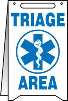 Triage Area Fold Up Sign (w/graphic)