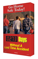 Digi Day Electronic Safety Scoreboards- Go Home Safe Today! SCA273 Accuform