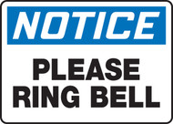 Notice- Please Ring Bell Sign