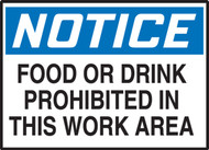 Food Or Drink Prohibited In This Work Area