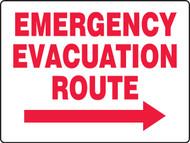 Emergency Evacuation Route Arrow Right