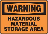Warning - Hazardous Material Storage Area - .040 Aluminum - 7'' X 10''