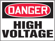 MELC085XAW Danger High Voltage Big Safety Sign