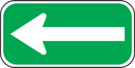 Left Arrow Sign white-green