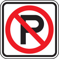 No Parking Symbol Sign