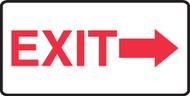 Exit (Arrow Right) - Dura-Fiberglass - 10'' X 14''