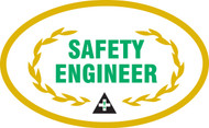 "Safety Engineer Hard Hat Label - 2 1/4"""
