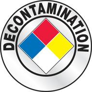 Decontamination Hard Hat Sticker