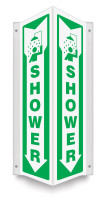 Emergency Shower Sign - 90D