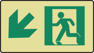 Graphic With Arrow Diagonal Down Left- Glow Sign