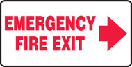 Emergency Fire Exit Sign Arrow Right