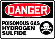 Danger - Poisonous Gas Hydrogen Sulfide 1