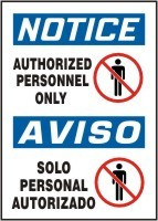 Authorized Personnel Only Sign- Bilingual Safety Sign