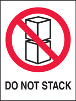 "Do Not Stack Shipping Label- 4"" X 3"" 500/roll"