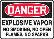Danger - Explosive Vapor No Smoking, No Open Flames, No Sparks