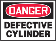 Defective Cylinder Sign Magetic Vinyl