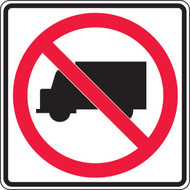 No Trucks Pictorial Traffic Sign