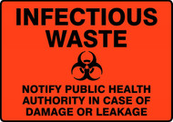 Infectious Waste Notify Public Health Authority In Case Of Damage Or Leakage (W/Graphic)