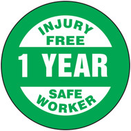 Injury Free 1 Year Safe Worker