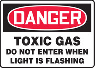 Danger - Danger Toxic Gas Do Not Enter When Light Is Flashing