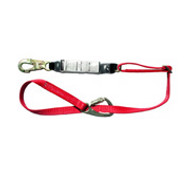 FP5K Tie-Back Lanyard by MSA Nylon Web, Adjustable Length W/ HL2000 Snaphook in Center and FP5K Carabiners- 6 Ft.