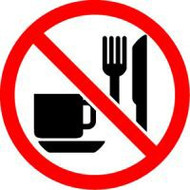 No Eating Or Drinking ISO Symbol