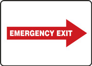 Emergency Exit Sign Right Arrow