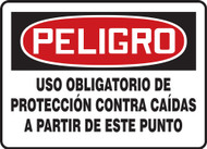 Danger - Fall Protection Required Beyond This Point - Aluma-Lite - 10'' X 14''