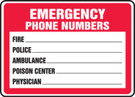 Emergency Phone Numbers  ...