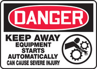 Danger - Keep Away Equipment Starts Automatically Can Cause Severe Injury