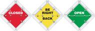 PSF319 Status Alert Flip Plac Sign
