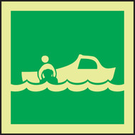 Rescue Boat IMO Sign