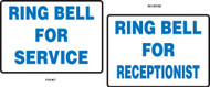 Ring Bell For Service / Ring Bell For Receptionist Tabletop Sign
