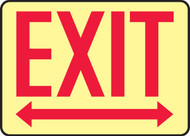 Exit Arrow Left & Right Glow Sign