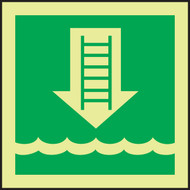 Embarkation Ladder IMO Sign