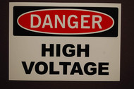 Electric Voltage Hazard - Adhesive Vinyl - 6''