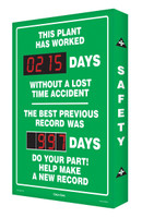 Outdoor Electronic Safety Scoreboard- Digi Day Plus- SCM327
