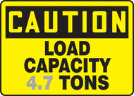 Caution - Load Capacity ___ Tons 1