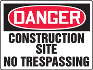 MCRT217VA Danger construction site no trespassing sign