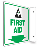 "First Aid - 90D 8"" x 8"" - Safety Panel - Projection Sign"