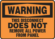 This Disconnect Does Not Remove All Power From Panel