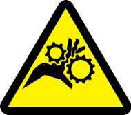 MISO324VS ISO Warning sign- Gear entanglement hazard sign