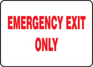Emergency Exit Only Sign with White Background