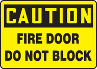 Caution - Fire Door Do Not Block