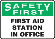 MFSD961VA First Aid Station in Office Sign