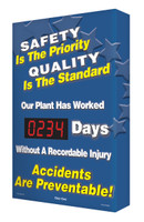 Digi Day Plus Safety Scoreboards for Outdoor Use Accuform SCM346