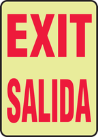 Exit Bilingual Glow Sign