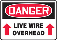 MELC123 Danger Live Wire Overhead Sign