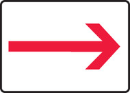 MEXT556VA Arrow Direction Sign Red